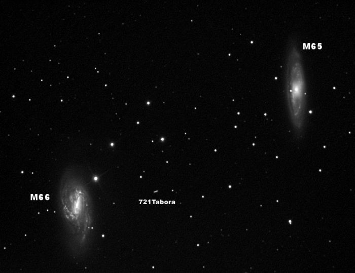 M65-66 y Asteroide